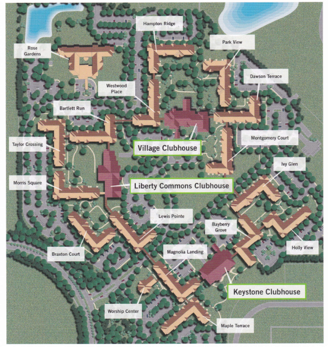 St Rose Campus Map.Anns Choice Resident Activity Campus Maps